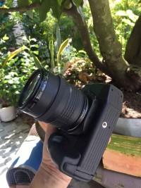 Bộ thân máy ống kính đèn led canon